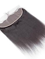 4x13 Closure Straight Human Hair Closure Medium Brown Swiss Lace about 50g gram Average Cap Size