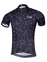 Sports Cycling Jersey Men's Short Sleeve Bike Breathable / Quick Dry / Anatomic Design / Front Zipper / Back Pocket / Reflective Strips
