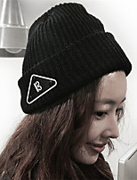 Women Men Autumn Winter Curling Hand-woven Tweed Knit Solid Color Cap Warm Wool Hat