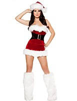 Strapless Sexy Christmas Costumes Female Christmas Miss Dress Sexy Santa Claus Costumes  Women Sexy Uniform