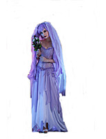 Female Ghost Zombies Masquerade Death Witch Costume for Halloween