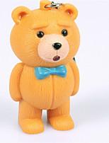 bs-057 Teddybär keychain Tierstimme Paar Schlüsselring geführt schallausgebende