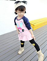 Girl Casual/Daily Solid Sets,Cotton Fall ¾ Sleeve Overall & Jumpsuit