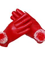 мс сенсорный экран алопеция перчатки (красный)