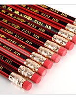 Hexagonal Red Wooden Pencil(10PCS)