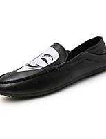 Черный / Белый / Черный и белый-Мужской-На каждый день-Полиуретан-На плоской подошве-Удобная обувь-Мокасины и Свитер