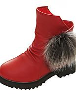Boty-PU-Pohodlné-Dívčí-Černá / Červená / Bílá-Běžné-Plochá podrážka