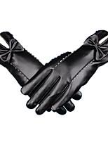 Gants hiver en cuir chaud (noir)