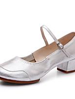 Chaussures de danse(Noir / Argent / Or) -Non Personnalisables-Talon Bottier-Tissu-Latine / Jazz / Baskets de Danse / Moderne