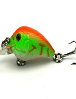 1 pcs Crank Crank Black / Brown / Green / Orange / Yellow / golden tiger / Red / Blue 4.2 g Ounce mm inch,Hard Plastic Bait Casting