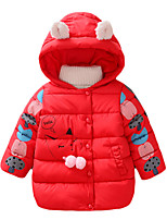 Girl's Casual/Daily Solid Down & Cotton Padded,Cotton Winter Green / Pink / Purple / Red