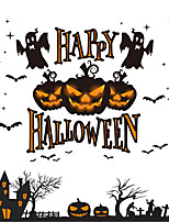 1pc tiendas de Halloween adorno de etiquetas en las ventanas Sticke electrostático