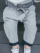 Boy's Casual/Daily Striped PantsCotton Spring / Fall Brown / Gray
