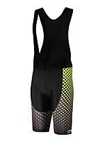 Sports QKI Cycling Bib Shorts Unisex Breathable /Polka Dots/ Anatomic Design /Polyester/ LYCRA / 5D Pad