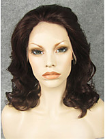 IMSTYLE 16''FashionReddish Medium Wave Synthetic Lace Front Wig For Black Women High Heat Resistant Fiber