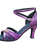 Customizable Women's Dance Shoes Satin / Leatherette Latin / Jazz / Swing Shoes / Salsa Sandals / HeelsCustomized