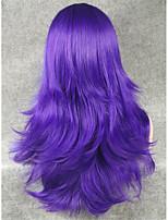 imstyle22''fashion косплей парик фиолетовый прямые синтетические парики машины
