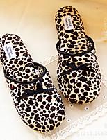 Черный-Женский-На каждый день-Материал на заказ клиента-На плоской подошве-Удобная обувь-Тапочки и Шлепанцы