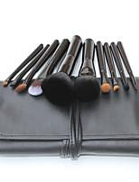 10 Conjuntos de pincel Escova de Cabelo de Cabra Profissional / Portátil Madeira Rosto / Olhos / Lábio Outros