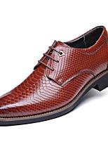 Men's Oxfords Comfort Leather Wedding / Office & Career Black / Blue / Red