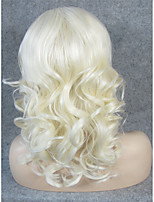 IMSTYLE 16''Drag Queen Blonde Short Curly Synthetic Lace Wig Front Lace Hair
