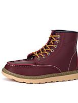 Men's Fashion Martin Boots Work & Safety Leather Boots Flat Heel Lace-up Black / Burgundy / Khaki Walking EU39-43