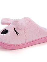 Unisex Slippers & Flip-Flops Scuff / Comfort Cotton Casual Flat Heel Animal Print / Others / Slip-onBrown / Pink /