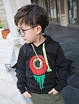 Boy's Casual/Daily Print Hoodie & Sweatshirt,Cotton Spring / Fall Black