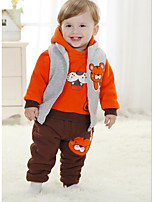 Boy's Casual/Daily Print Clothing SetCotton Winter Orange