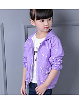 Girl Casual/Daily Print Suit & Blazer,Cotton Fall Long Sleeve
