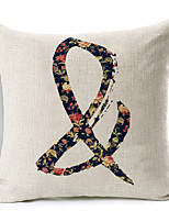 Polyester Decorative Cushion Pillow Cover Print Flower Symbol Sofa Home Decor 45x45cm