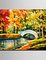 Ручная роспись Пейзаж Картины маслом,Modern / Европейский стиль 1 панель Холст Hang-роспись маслом For Украшение дома