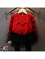 Girl's Casual/Daily Solid Sweater & CardiganCotton Spring / Fall Pink / Red