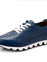 Hombre-Tacón Plano-Confort-Zapatillas de deporte-Deporte-Cuero-Negro Azul Marrón Amarillo