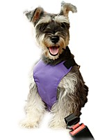 Gatos / Perros Cuello / Arnés de Perro para Asiento de Coche /Arnés de Seguridad para PerroAjustable/Retractable / Seguridad / Suave /