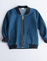 Boy's Casual/Daily Print Suit & BlazerCotton Fall Blue
