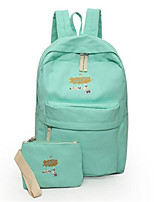 Women Canvas Casual Backpack Blue / Green / Black