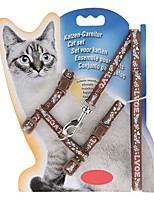 Chat Laisses Ajustable/Réglable Nature & Paysages Marron Nylon