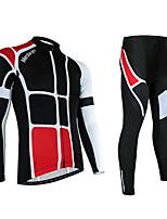 Спорт Муж. Длинные рукава ВелоспортДышащий / Быстровысыхающий / Анатомический дизайн / Ультрафиолетовая устойчивость / Влагопроницаемость