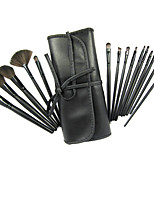 15 Blush Brush / Eyeshadow Brush / Brow Brush / Eyeliner Brush Professional / Travel / Full Coverage Wood
