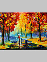 Hand Painted Abstract Knife Landscape Tree Oil Painting On Canvas Wall Art Picture For Home Decoration Ready To Hang