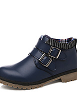 Boy's Oxfords Fashion Leather Shoes Comfort Warm Shoes Casual Flat Heel Buckle Black / Blue / Brown Walking