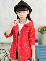 Girl's Casual/Daily Print Suit & BlazerCotton Winter / Fall Blue / Pink / Red