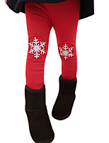 Girl's Casual/Daily Patchwork Pants / LeggingsCotton / Spandex / Others Winter Black / Red