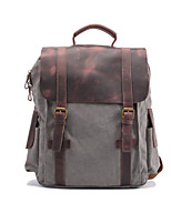 Casual Outdoor Backpack Men Canvas Blue Green Gray