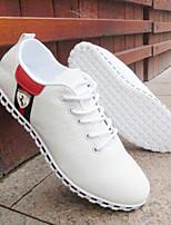 Черный / Синий / Красный / Серый / Тёмно-синий-Мужской-На каждый день-КожаУдобная обувь-На плокой подошве