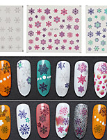 3pcs/lot Nail  Snow  Series Watermark Stickers