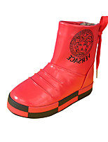 Girl's Boots Winter Comfort PU Outdoor / Casual Flat Heel Rivet / Others Red Walking