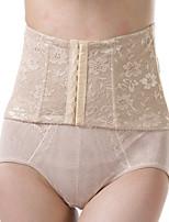 Women's Underbust Corset Nightwear Solid Lace Jacquard-Thin Nylon Beige