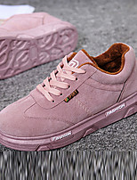 Розовый / Белый-Женский-На каждый день-ПолиуретанУдобная обувь-Кеды